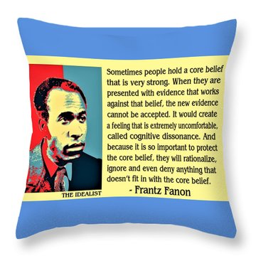 Cognitive Dissonance Frantz Fanon Throw Pillow