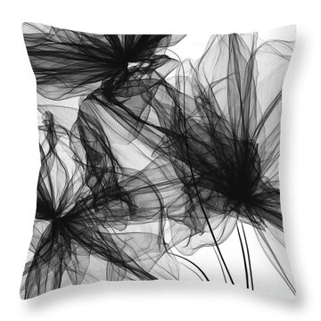 Coherence - Black And White Modern Art Throw Pillow
