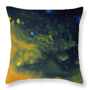 Throw Pillow featuring the painting Cohesion 1 by Mary Kay Holladay