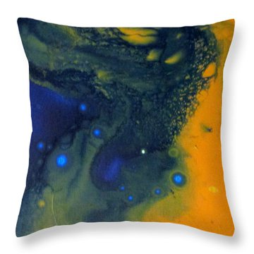 Throw Pillow featuring the painting Cohesion 2 by Mary Kay Holladay