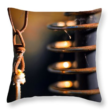 Throw Pillow featuring the photograph Coil by Tim Nichols
