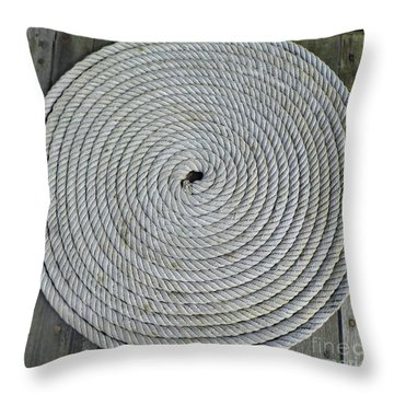 Coiled By D Hackett Throw Pillow