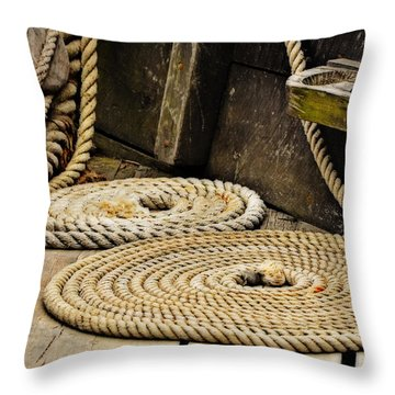 Coiled Rope From Philadelphia II Gunboat Throw Pillow