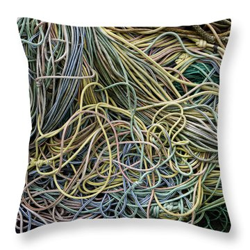 Coils Of Rope Throw Pillow by Carol Leigh