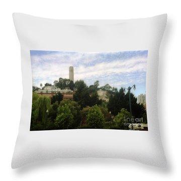 coit Tower San Francisco Throw Pillow