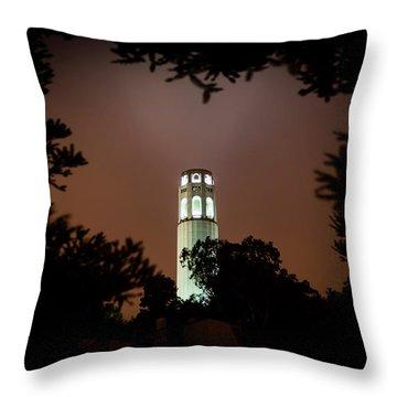 Coit Tower Through The Trees Throw Pillow