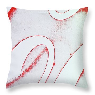 Throw Pillow featuring the photograph Coke 2 by Laurie Stewart