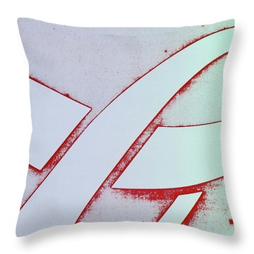Coke Throw Pillow by Laurie Stewart