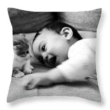 Cokitten Throw Pillow