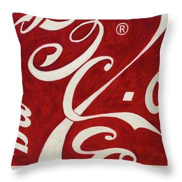 Cola - Coca Throw Pillow by Antonio Ortiz