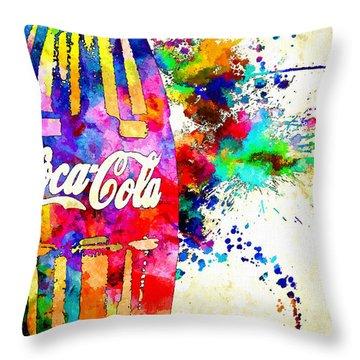 Cola Grunge Throw Pillow by Daniel Janda