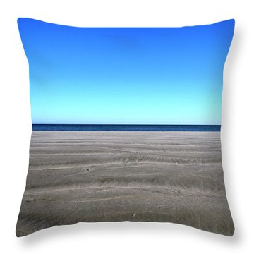 Cold Beach Day Throw Pillow