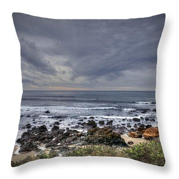 Cold Beach Throw Pillow