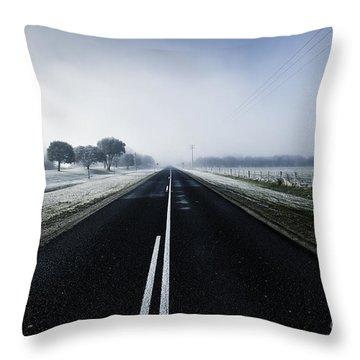 Straight Ahead Throw Pillows