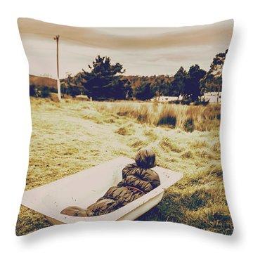 Cold Case Of Retro Crime Throw Pillow