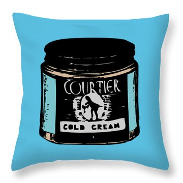 Throw Pillow featuring the digital art Cold Cream by ReInVintaged