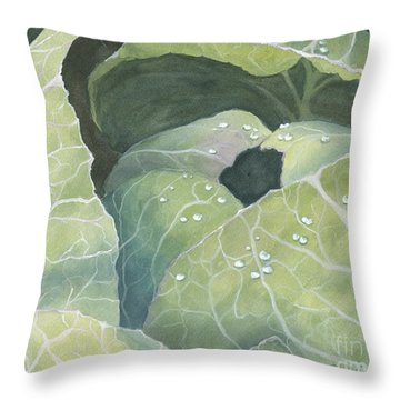Cold Crop Throw Pillow