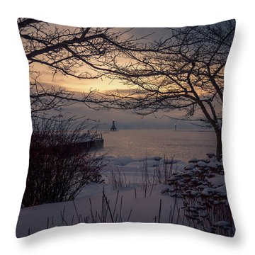 Cold Fingers Throw Pillow