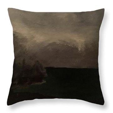 Cold Fog And Sea Throw Pillow