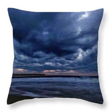 Throw Pillow featuring the photograph Cold Front by DJA Images