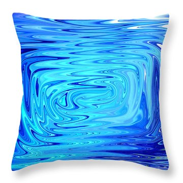 Throw Pillow featuring the digital art Cold 2 by Mary Bedy