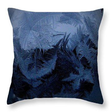 Cold Moon Rising Throw Pillow