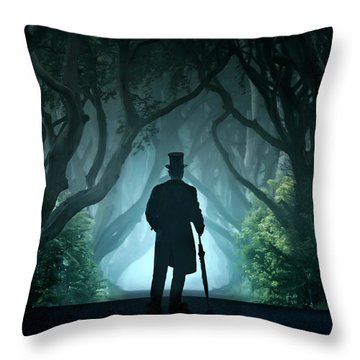Cold Morning In Dark Hedges Throw Pillow