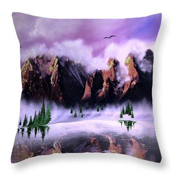 Cold Mountain Morning Throw Pillow