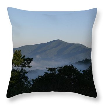 Cold Mountain North Carolina Throw Pillow