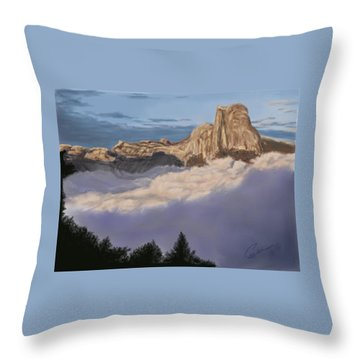 Cold Mountains Throw Pillow