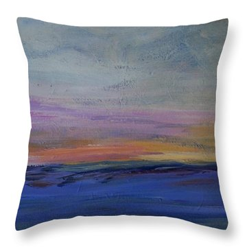 Cold Night Coming Soon Throw Pillow