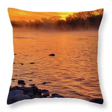 Cold November Morning Throw Pillow