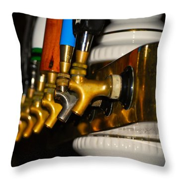 Cold One Throw Pillow