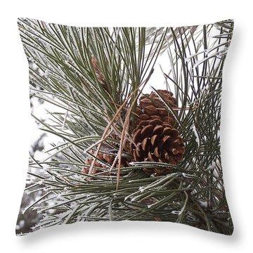 Cold Pine Throw Pillow