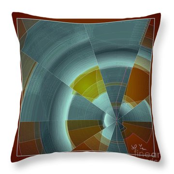 Cold Rays Throw Pillow by Leo Symon
