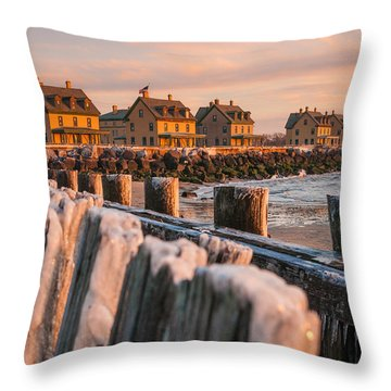Cold Row Throw Pillow