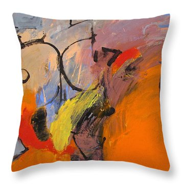 Throw Pillow featuring the painting Cold Shoulder  by Cliff Spohn