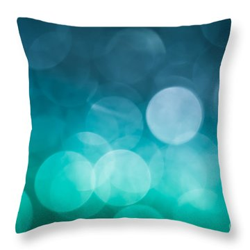 Throw Pillow featuring the photograph Cold Shower by Jan Bickerton