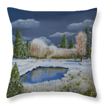 Cold Sky 1 Throw Pillow by Melvin Turner
