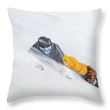 Throw Pillow featuring the painting Cold Smoke by Kenneth M Kirsch