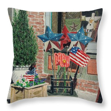 Cold Spring Window Left Throw Pillow