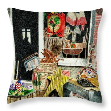 Cold Spring Window Right Throw Pillow