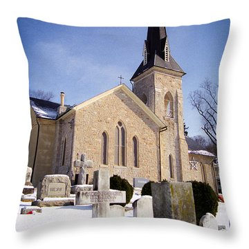 Throw Pillow featuring the photograph Cold Stone Service by T Brian Jones