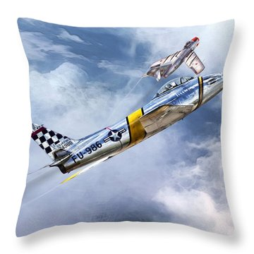Cold War Clash Throw Pillow by Peter Chilelli