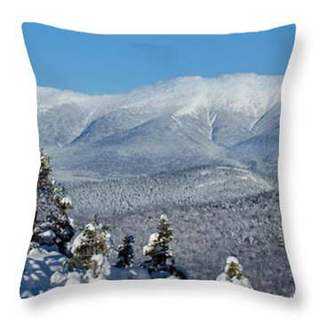 Cold Winter Day On Haystack Nubble Throw Pillow