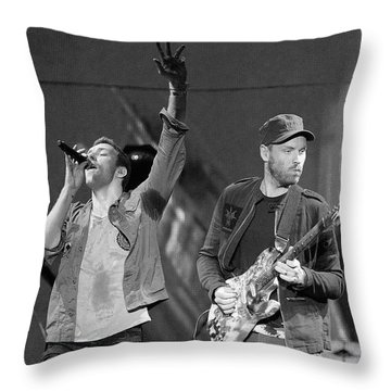 Coldplay 14 Throw Pillow by Rafa Rivas