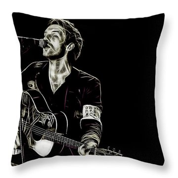Coldplay Collection Chris Martin Throw Pillow by Marvin Blaine