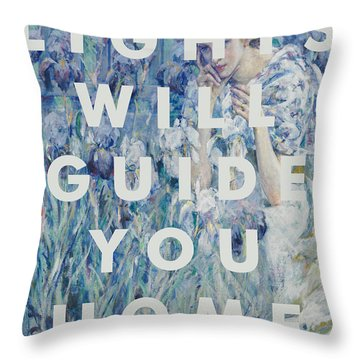 Coldplay Lyrics Print Throw Pillow