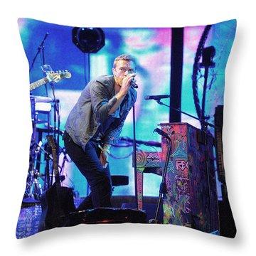 Coldplay7 Throw Pillow by Rafa Rivas