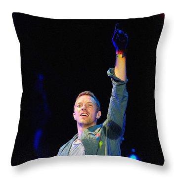 Coldplay8 Throw Pillow by Rafa Rivas
